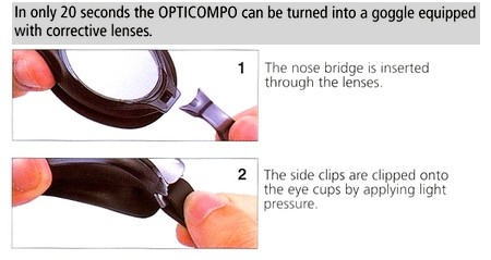 Platina swimming goggles assembly